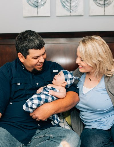 Newborn Family Photoshoot Swaddle