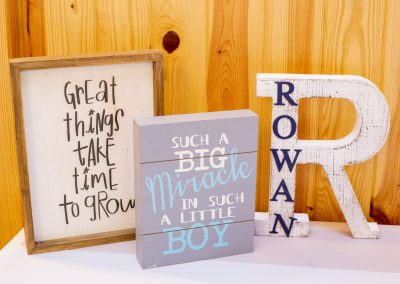 Preemie NICU Baby Shower Signs
