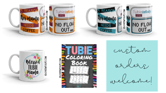 G-Tube Coloring Book Tubie Mug Coffee Cup